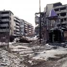 View of Grbavica, a neighbourhood of Sarajevo, approximately 4 months after the signing of the Dayton Peace Accord that officially ended the war in Bosnia.