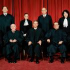 The United States Supreme Court, the highest court in the United States, in 2009. Top row (left to right): Associate Justice Samuel A. Alito, Associate Justice Ruth Bader Ginsburg, Associate Justice Stephen G. Breyer, and Associate Justice Sonia Sotomayor. Bottom row (left to right): Associate Justice Anthony M. Kennedy, Associate Justice John Paul Stevens, Chief Justice John G. Roberts, Associate Justice Antonin G. Scalia, and Associate Justice Clarence Thomas.
